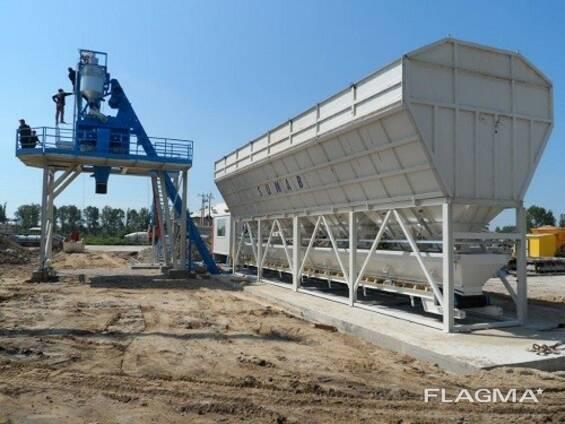 Стационарный бетонный завод SUMAB Т30 (30 м3/ч) Швеция