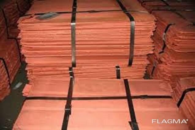 Copper Cathode Plates 99.97-99.99% Purity